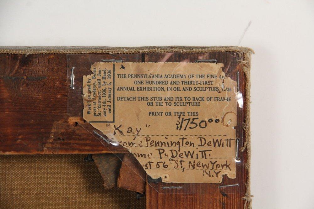 """JEROME PENNINGTON DEWITT (NY/NJ, 1895-1940) - """"Kay"""", - 5"""