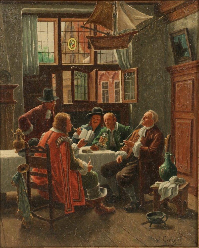 WILHELM F. GIESSEL (Austria, 1869-1938) - Two Tavern - 2