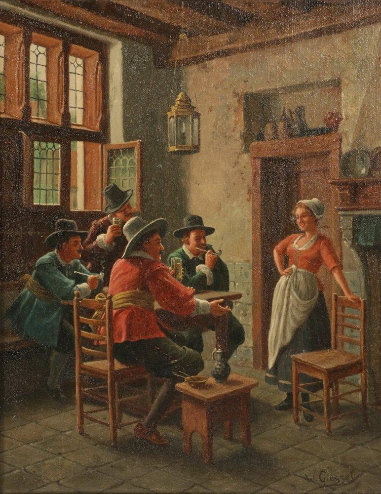 WILHELM F. GIESSEL (Austria, 1869-1938) - Two Tavern - 4