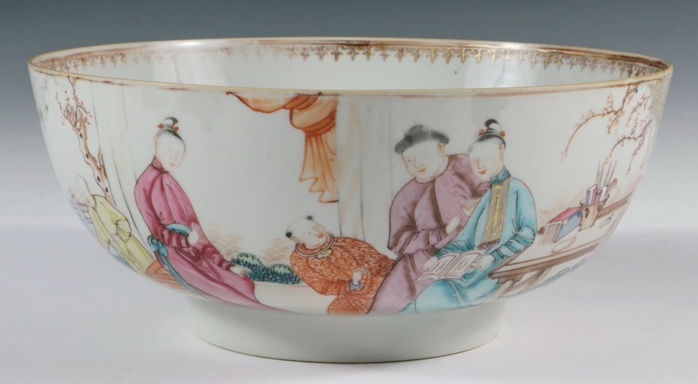CHINESE EXPORT PUNCH BOWL - 19th c. Famille Rose - 3