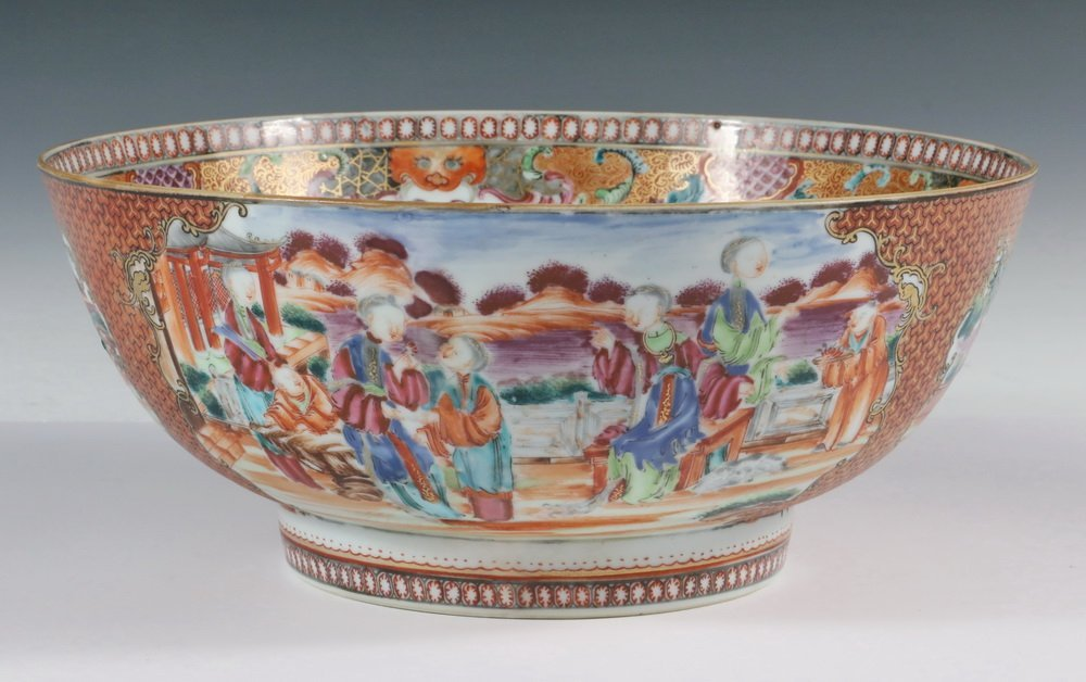 CHINESE EXPORT PUNCH BOWL - 18th century Chinese Export