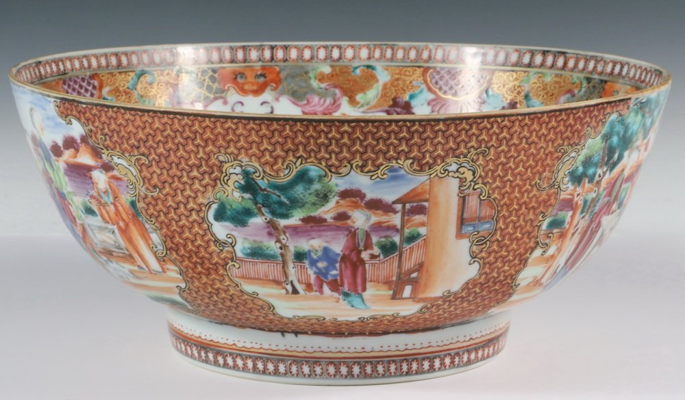 CHINESE EXPORT PUNCH BOWL - 18th century Chinese Export - 2