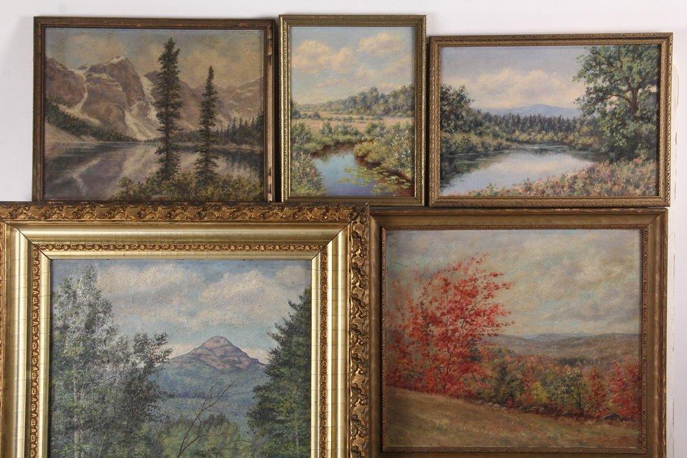ARTHUR E. HARRIS (19th c. Mass) - (8) Landscapes, oil - 2