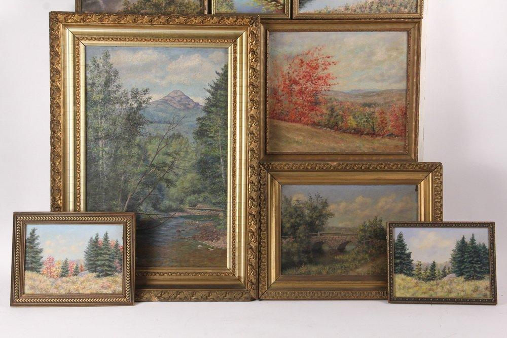 ARTHUR E. HARRIS (19th c. Mass) - (8) Landscapes, oil - 3