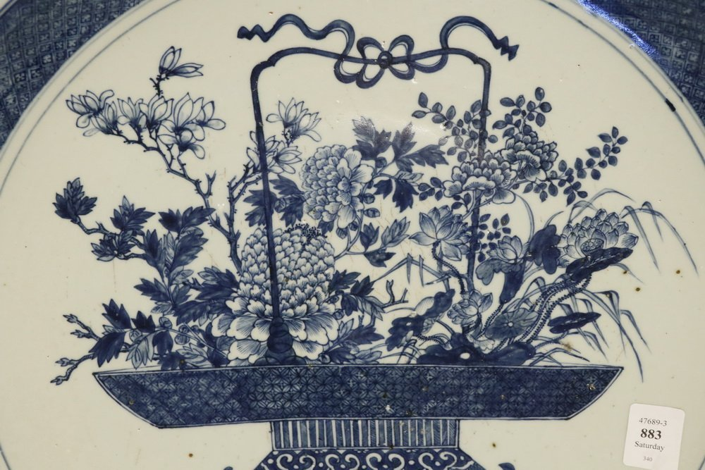 CHINESE EXPORT CHARGER - Large Cobalt Blue and White - 4