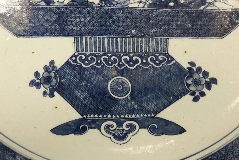 CHINESE EXPORT CHARGER - Large Cobalt Blue and White - 5