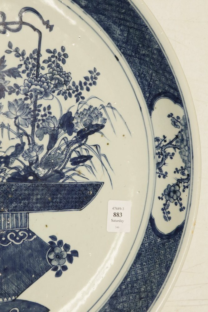 CHINESE EXPORT CHARGER - Large Cobalt Blue and White - 7