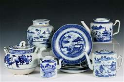 9 PCS CHINESE EXPORT PORCELAIN  All 19th c Canton