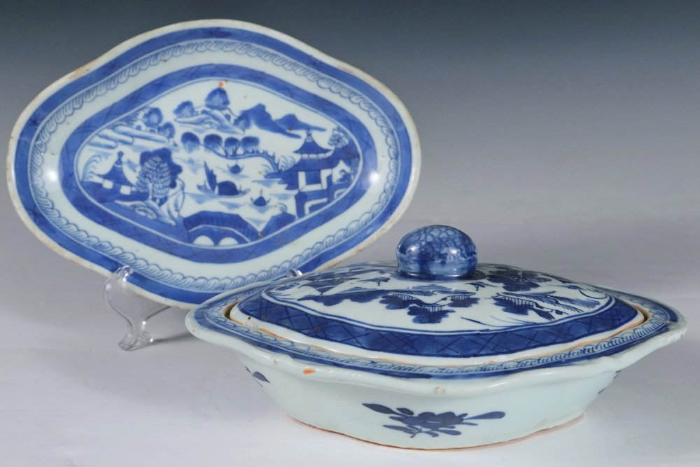 CHINESE BLUE & WHITE - Collection of (5) Pcs of 19th c. - 4