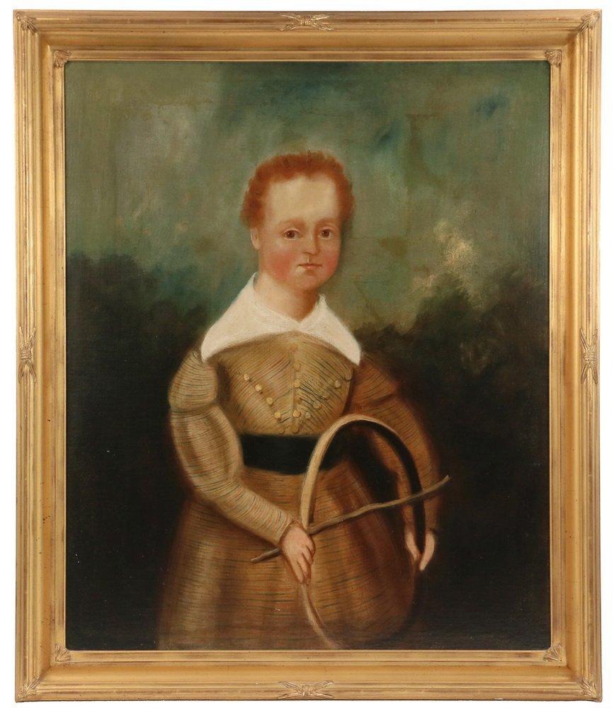NAIVE PORTRAIT - Itinerant Artist's Portrait of a