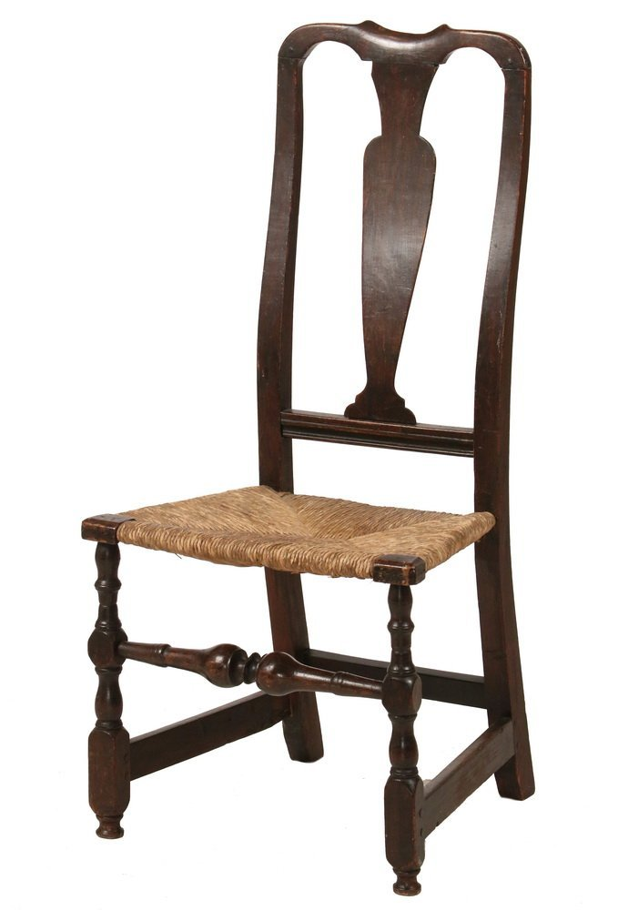 18TH C. SIDECHAIR - Queen Anne Period Splat Back