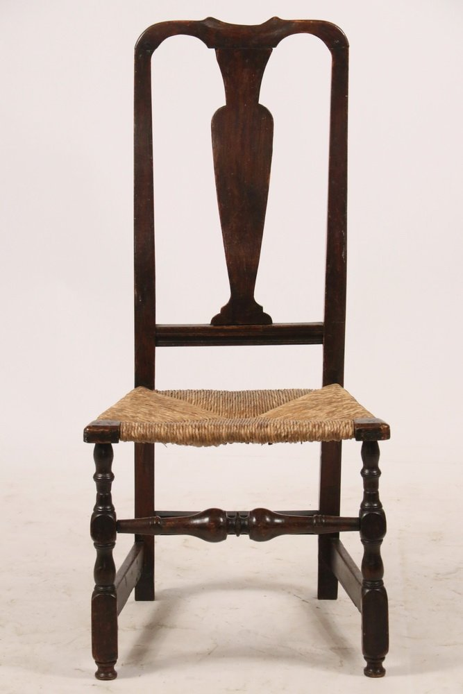 18TH C. SIDECHAIR - Queen Anne Period Splat Back - 2