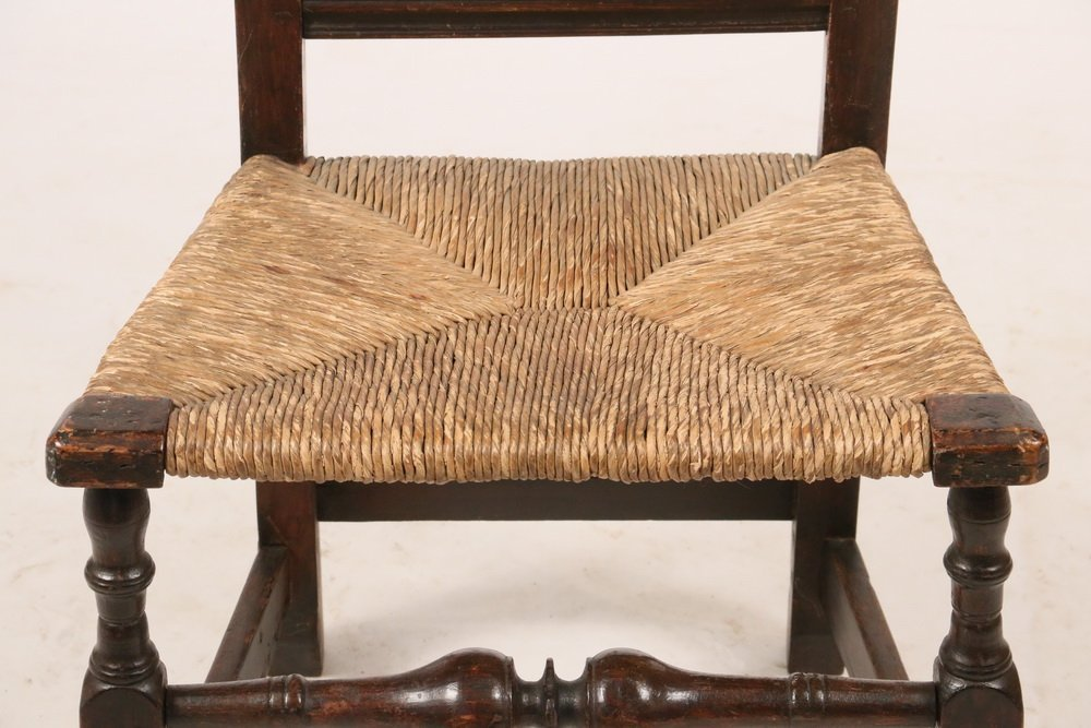18TH C. SIDECHAIR - Queen Anne Period Splat Back - 3