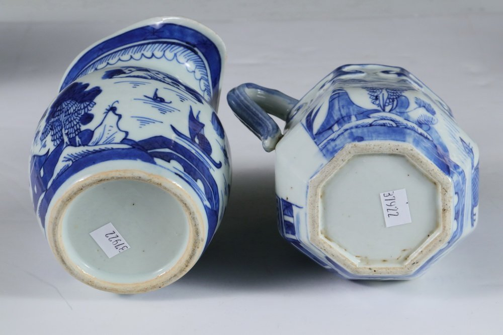 PITCHERS - Collection of (4) 19th c. Chinese Export - 2