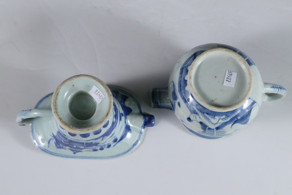 PITCHERS - Collection of (4) 19th c. Chinese Export - 3