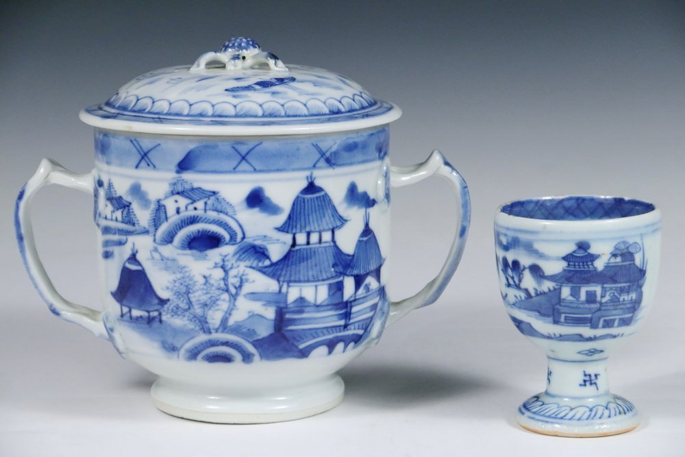 CANTON PORCELAIN - (5) Pieces of 19th c. Chinese Export - 2