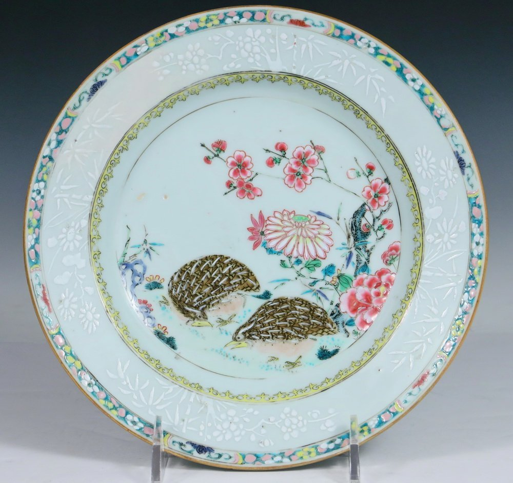 PLATE - 18th c. Chinese Export Porcelain Famille Rose