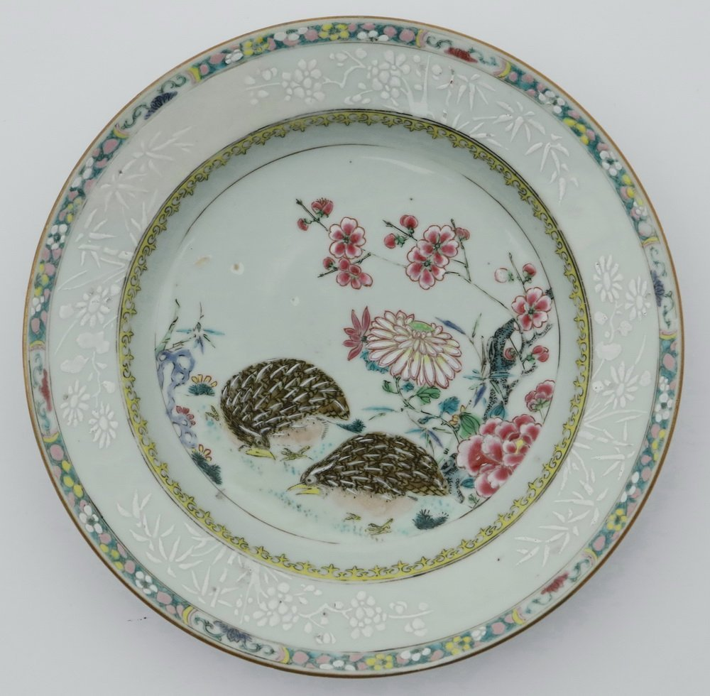 PLATE - 18th c. Chinese Export Porcelain Famille Rose - 3