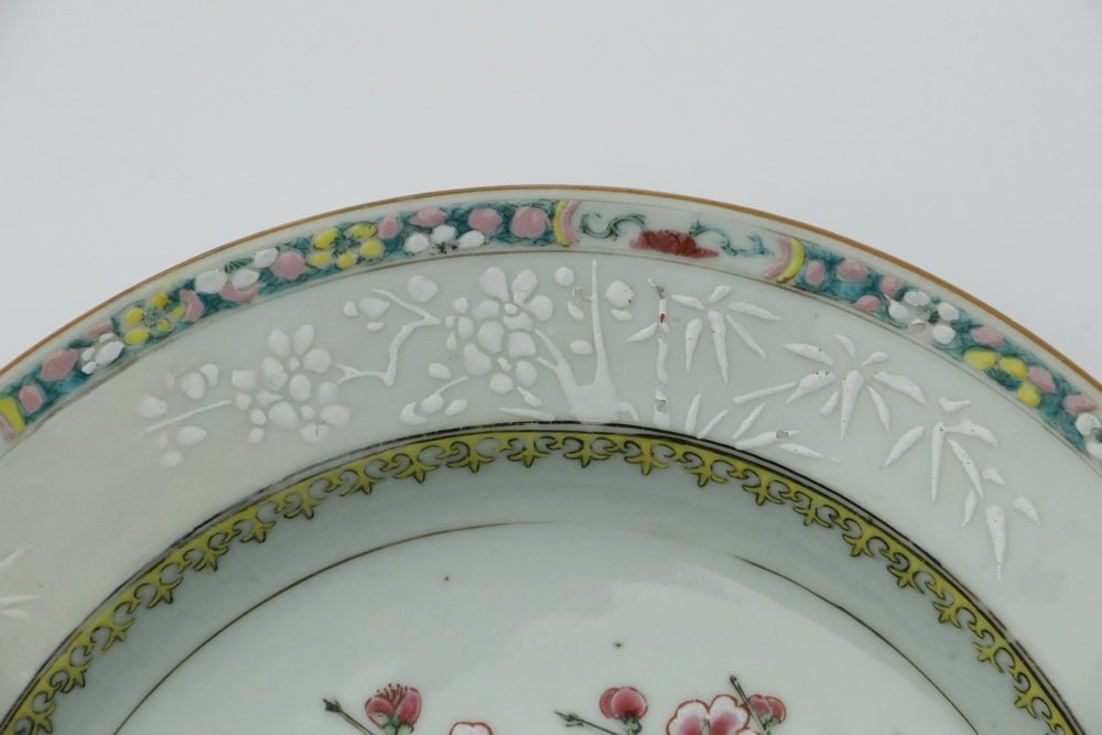 PLATE - 18th c. Chinese Export Porcelain Famille Rose - 4