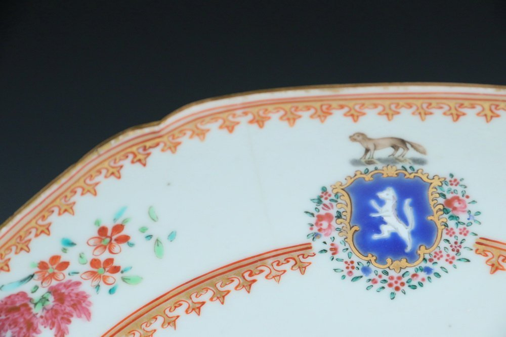 PLATES - Pair of 18th c. Chinese Export Famille Rose - 2