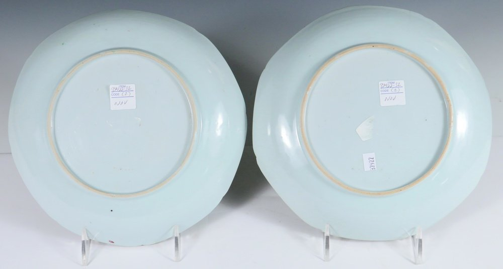 PLATES - Pair of 18th c. Chinese Export Famille Rose - 3