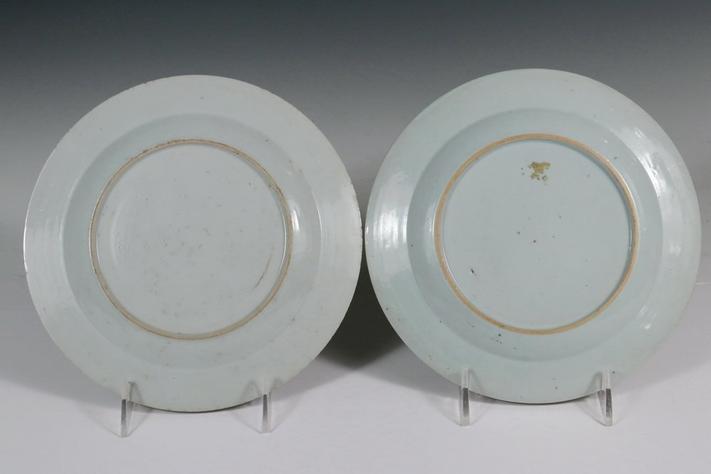 PAIR OF EARLY CHINESE PLATES - 18th c. Wucai Export - 2