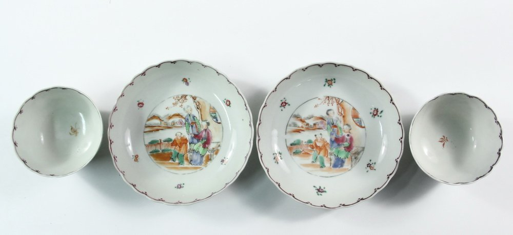 (5 PCS) CHINESE EXPORT PORCELAIN - All late 18th c., in - 2
