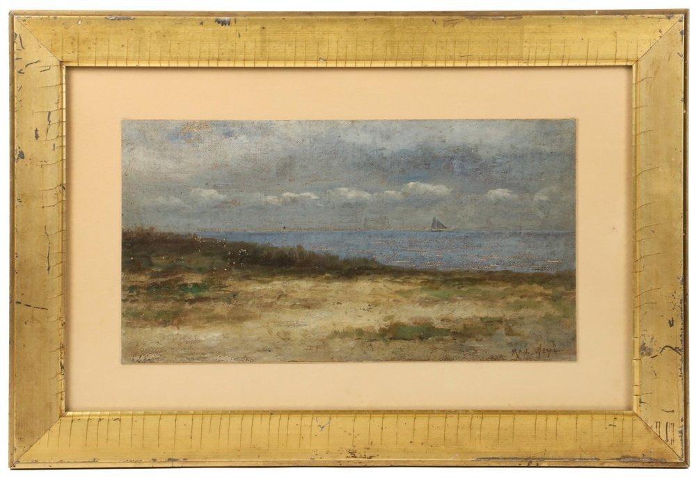 MAX WEYL (DC, 1837-1914) - Coastal Scene with Dunes and