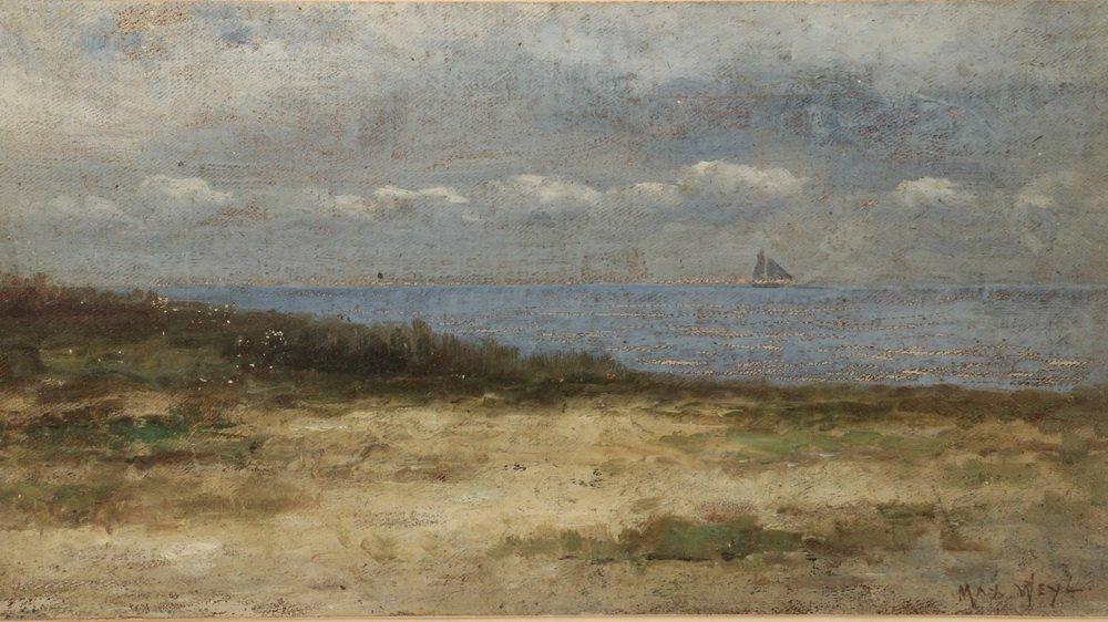 MAX WEYL (DC, 1837-1914) - Coastal Scene with Dunes and - 2