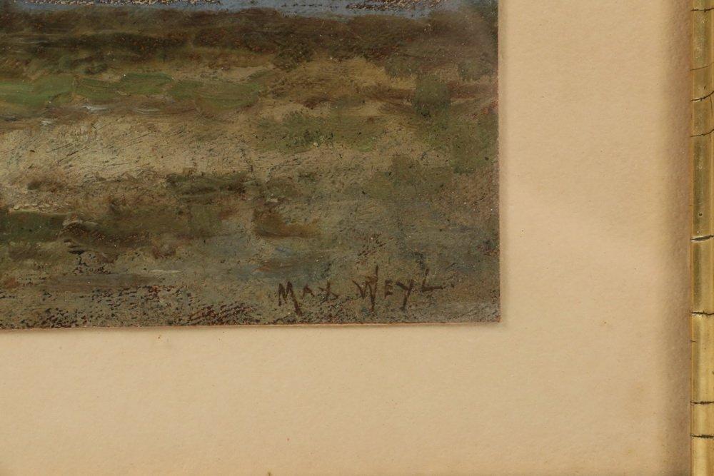 MAX WEYL (DC, 1837-1914) - Coastal Scene with Dunes and - 3