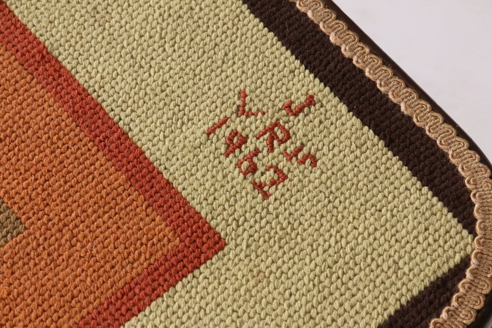 NEEDLEPOINT TOP GAMING TABLE - 19th c. French - 3