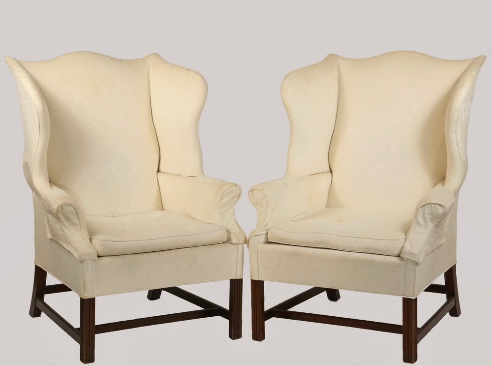 PAIR OF WINGCHAIRS - Period Chippendale Marlborough