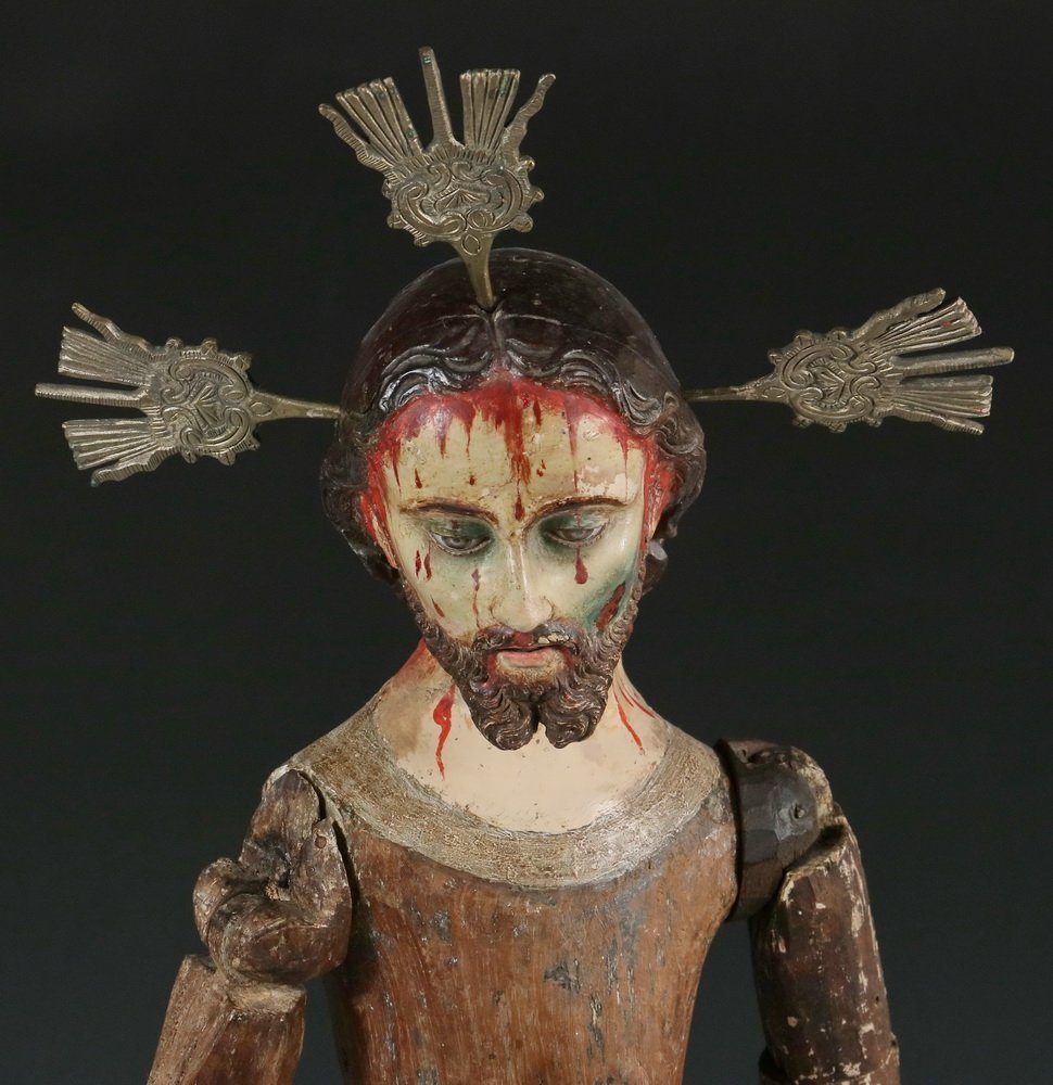 COLONIAL ARTICULATED SANTOS - Figure of Cristo, Quito - 2