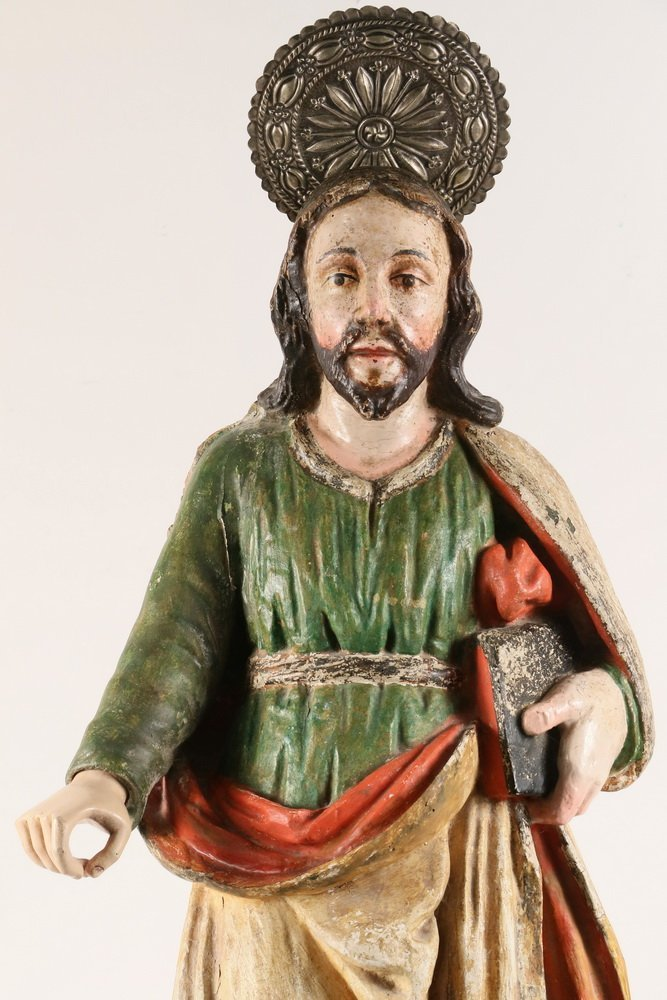 SPANISH COLONIAL RELIGIOUS STATUE - Large Figure of - 2