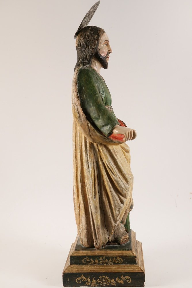 SPANISH COLONIAL RELIGIOUS STATUE - Large Figure of - 4