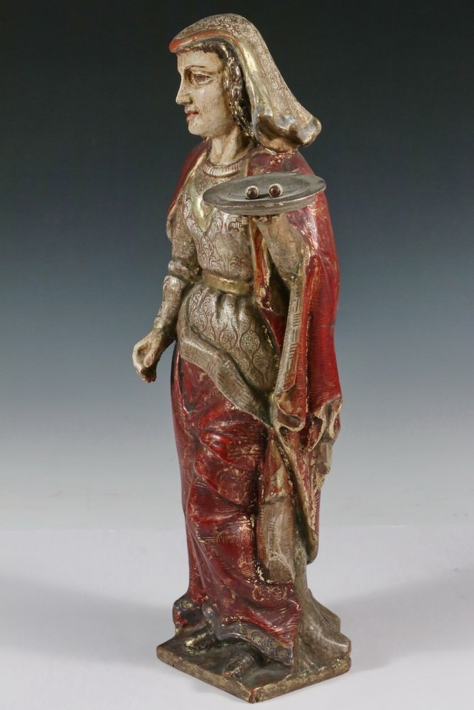 CENTRAL AMERICAN SANTOS - 'Sa. Lucia', 19th c., - 2