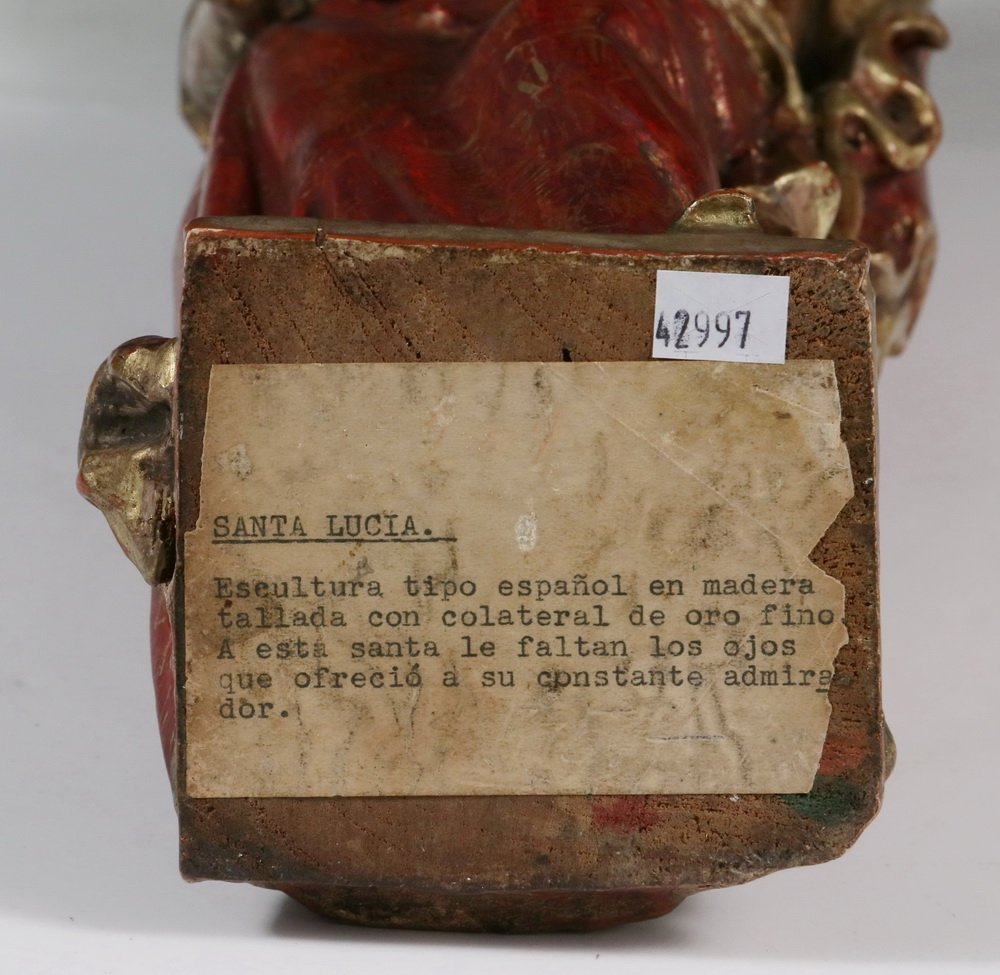 CENTRAL AMERICAN SANTOS - 'Sa. Lucia', 19th c., - 5
