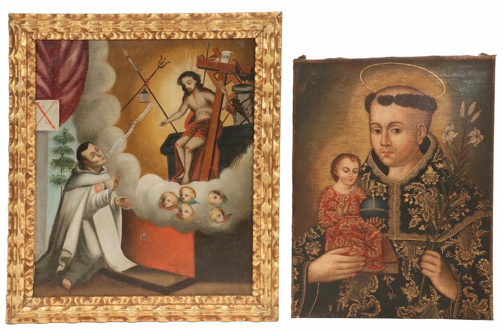(2) COLONIAL SOUTH AMERICAN ICONS - Both 18th c., Quito