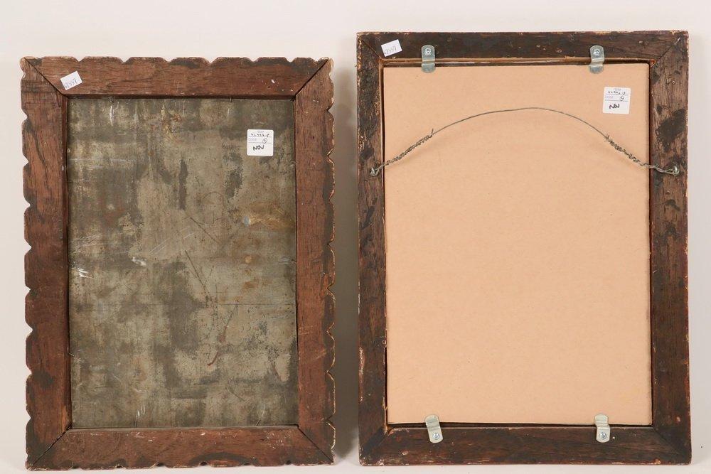 (2) SOUTH AMERICAN FRAMED TIN RETABLO - Both 19th c., - 4