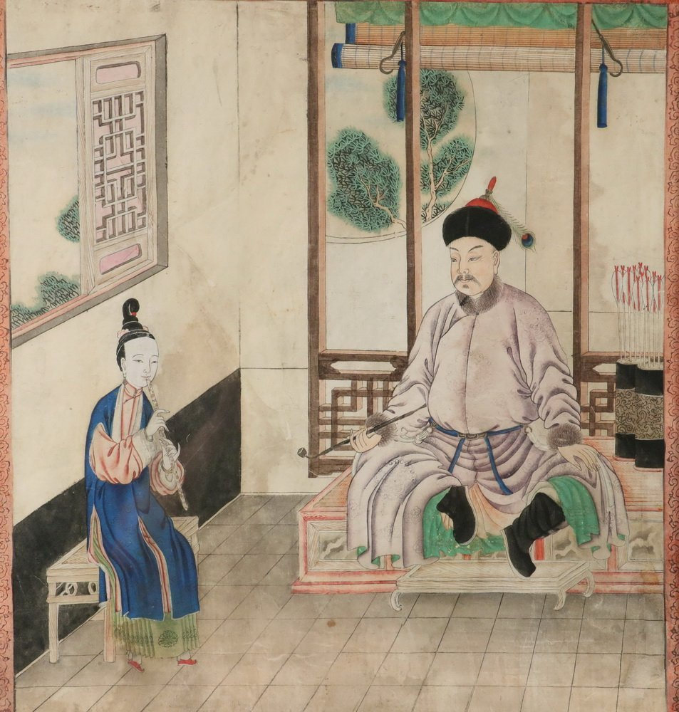 PAIR OF CHINESE ANCESTRAL PORTRAITS - Qing Dynasty 18th - 2
