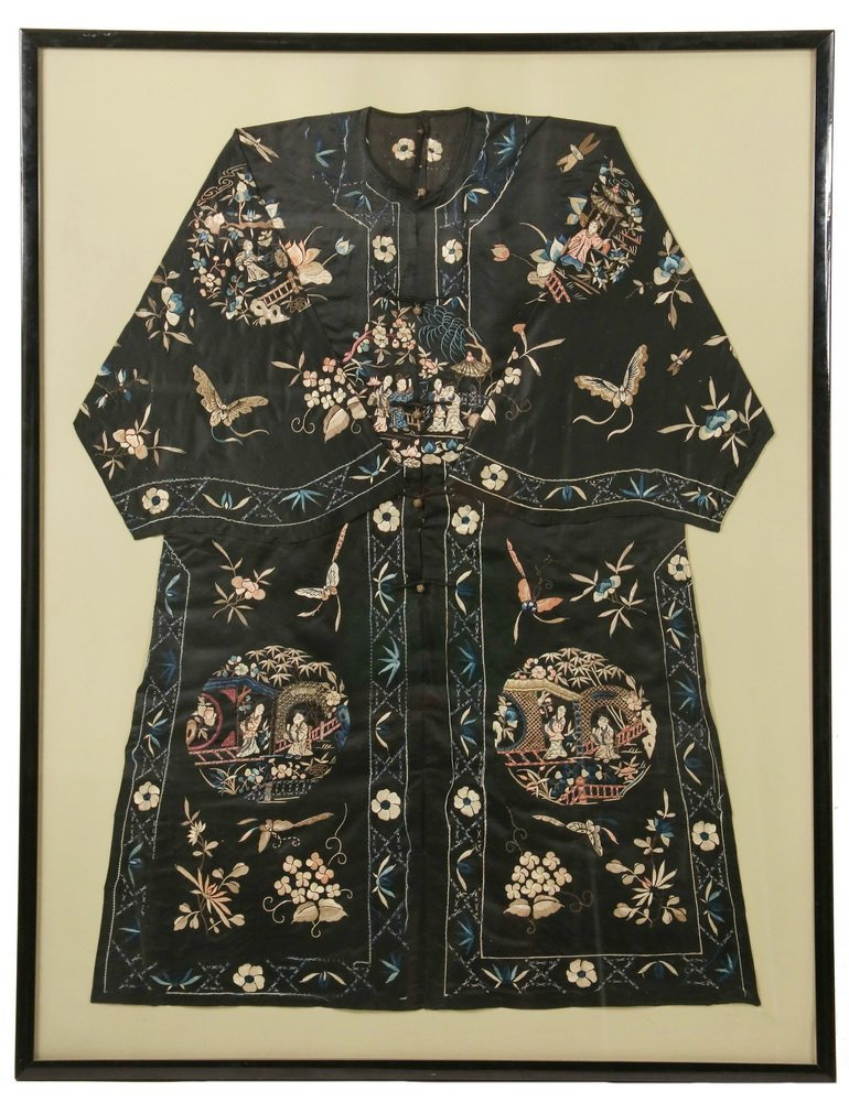 FRAMED CHINESE SILK ROBE - 1920s Vintage Woman's Summer