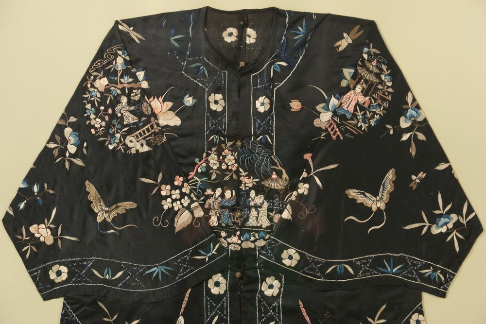 FRAMED CHINESE SILK ROBE - 1920s Vintage Woman's Summer - 2