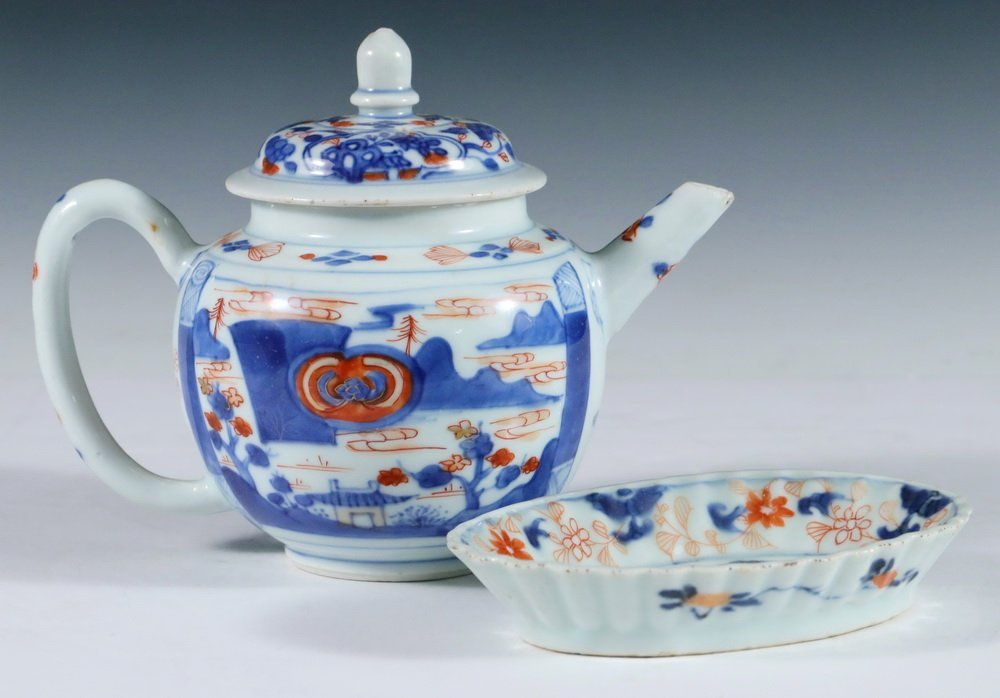 CHINESE IMARI - (2) Pcs of 18th c. Chinese Export Imari