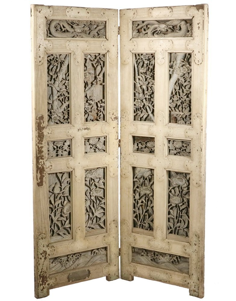 TWO-PANEL CHINESE FOLDING SCREEN - Room Divider made up