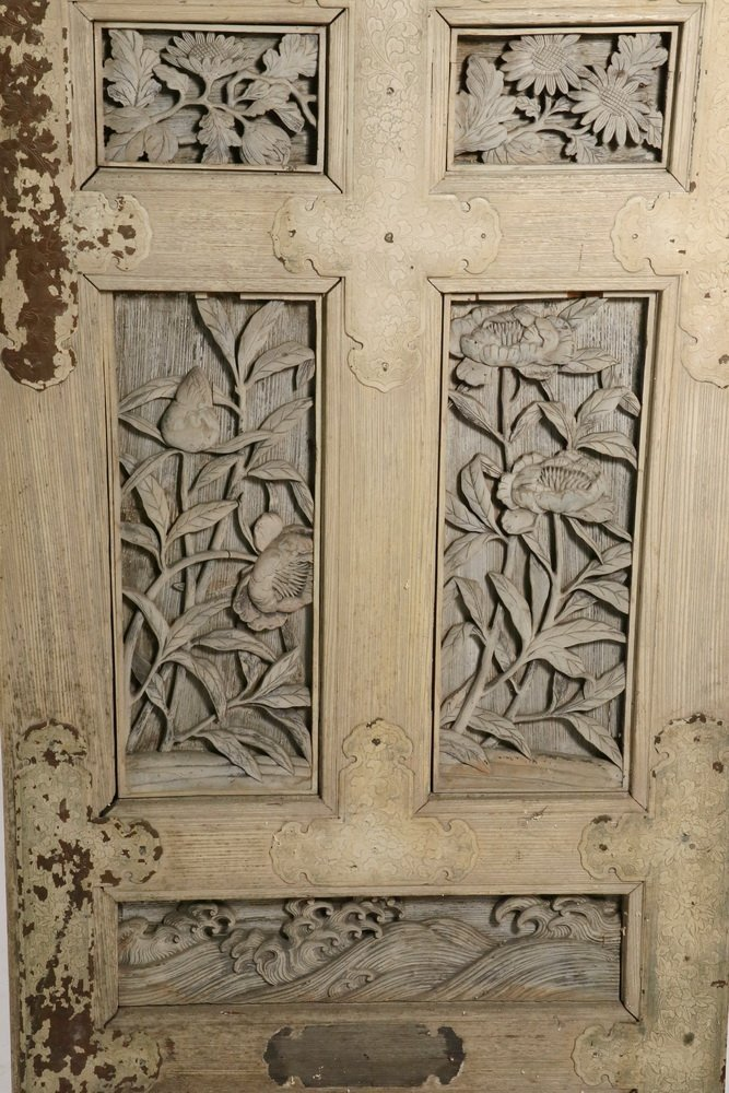 TWO-PANEL CHINESE FOLDING SCREEN - Room Divider made up - 3