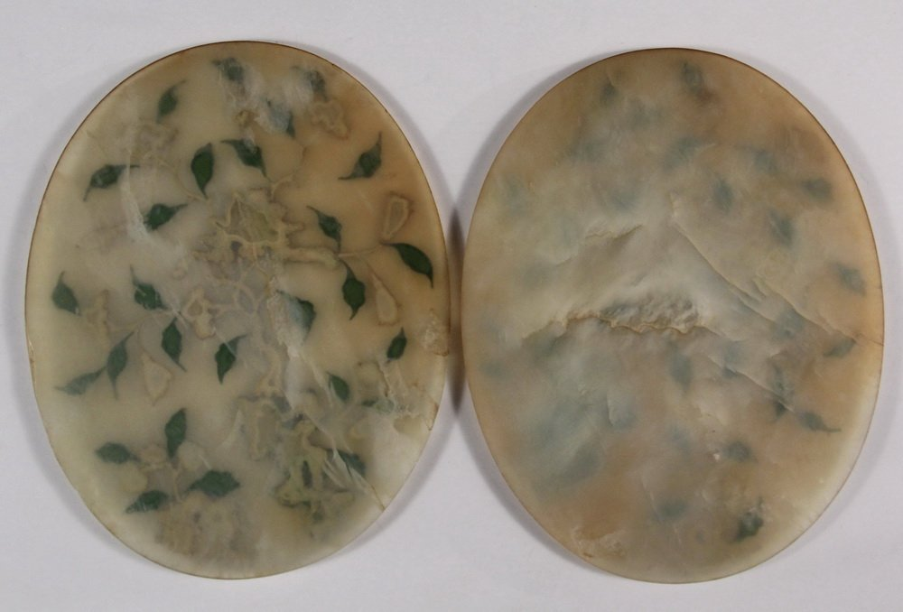 PAIR OF CHINESE JADE TABLETOP SCREENS - Early 20th c. - 5