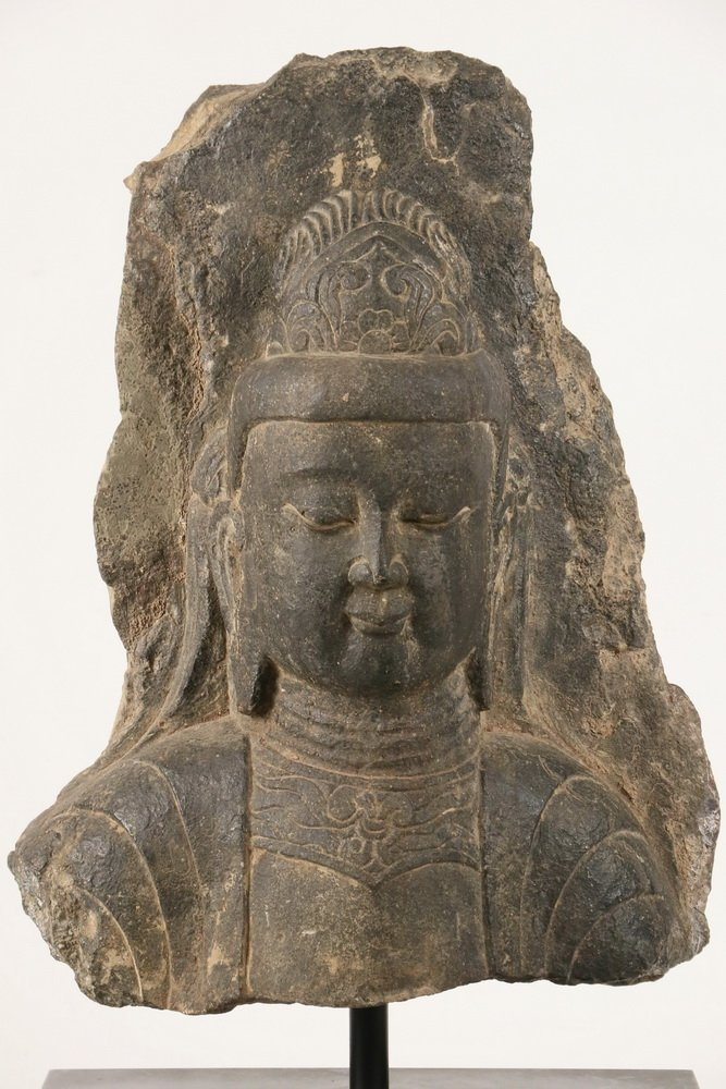 ANCIENT CHINESE ARCHITECTURAL FRAGMENT - Portrait of - 2