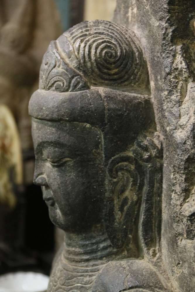 ANCIENT CHINESE ARCHITECTURAL FRAGMENT - Portrait of - 8