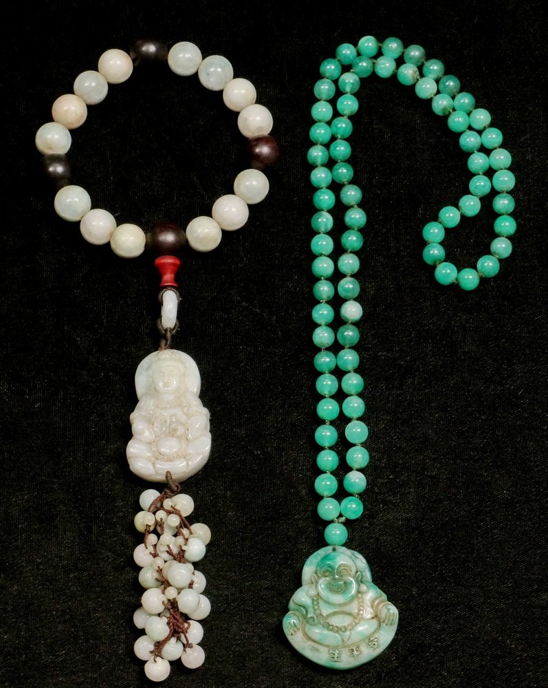 (2 PCS) CHINESE JADE JEWELRY - Including: Apple Green