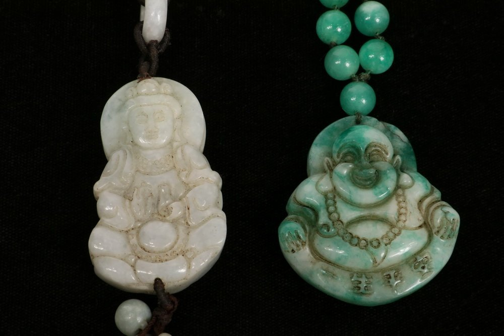 (2 PCS) CHINESE JADE JEWELRY - Including: Apple Green - 2